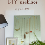 This easy peasy to make DIY necklace organizer was made mostly from leftover material and stuff I already owned, so it came quite cheap to me. And I like that the display invites me to wear my jewellery more.