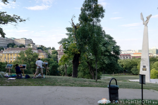 I climbed up Gellert mountain on my second day. It was quite steep and longer than I thought (should have chosen the other side) but on my way up I came across a group of painters in a park.