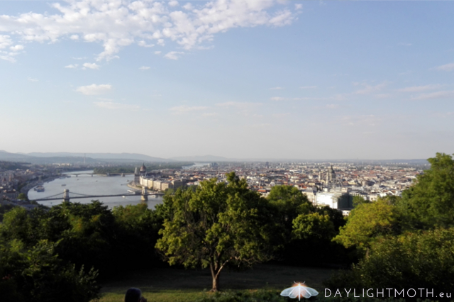 This is a view of Budapest from Gellert mountain